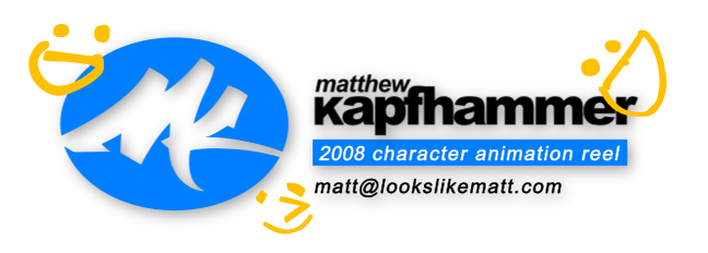 lookslikematt 2008 character animation reel